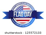 flag day. us seal and banner... | Shutterstock . vector #125572133