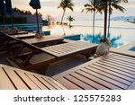 outdoor resort pool in asia... | Shutterstock . vector #125575283