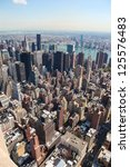 vertical skyline of midtown... | Shutterstock . vector #125576483
