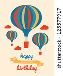happy birthday greeting card.... | Shutterstock .eps vector #125577917