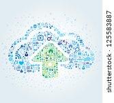technology concept of cloud... | Shutterstock .eps vector #125583887