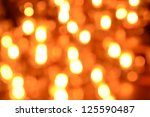 Bokeh Of Light Candle In Room