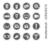 movie and media icon set | Shutterstock .eps vector #125610173