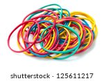 colored rubber bands | Shutterstock . vector #125611217