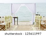 wedding venue on the beach   Shutterstock . vector #125611997