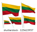 lithuania vector flags set. 5... | Shutterstock .eps vector #125615957