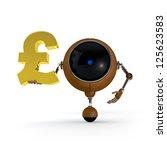 3d illustration robot hold... | Shutterstock . vector #125623583