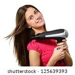 attractive cheerful teenager... | Shutterstock . vector #125639393