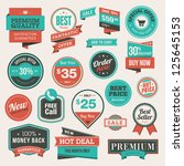 set of vintage badges and... | Shutterstock .eps vector #125645153