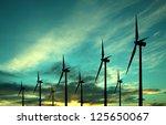 eco power windturbines | Shutterstock . vector #125650067