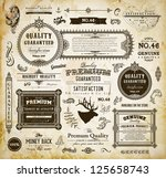 vector set of calligraphic... | Shutterstock .eps vector #125658743