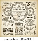 vector set of calligraphic... | Shutterstock .eps vector #125660147