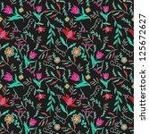 floral pattern | Shutterstock .eps vector #125672627