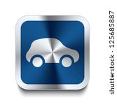 square metal button with car...