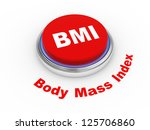 3d illustration of BMI ( Body Mass Index) button - stock photo