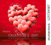valentine's day illustration.... | Shutterstock . vector #125739587