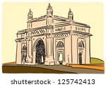 Mumbai Gateway of India - stock vector