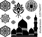 vector set of islamic ornaments ... | Shutterstock .eps vector #125746997