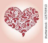 openwork heart card | Shutterstock .eps vector #125755913