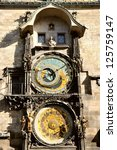 prague orloj astronomical clock | Shutterstock . vector #125759147