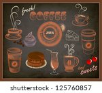 coffee and sweets ads  ...   Shutterstock .eps vector #125760857