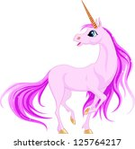 vector unicorn. little fantasy