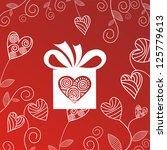 valentines day card illustration | Shutterstock . vector #125779613