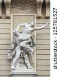 Small photo of Sculptural Composition - Hercules Wrestling Antaeus. Hofburg. Vienna.Austria.
