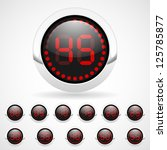 vector timer with red digits | Shutterstock .eps vector #125785877