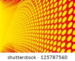 orange halftone background - stock vector