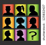 avatar people silhouettes. male ... | Shutterstock .eps vector #125832437