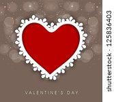 happy valentine's day... | Shutterstock .eps vector #125836403