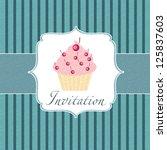 Cupcake Invitation Background