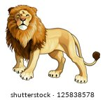 Lion king. Vector isolated animal. - stock vector
