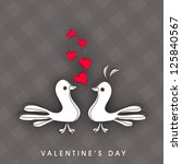 valentine's day love card or... | Shutterstock .eps vector #125840567
