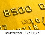 Close up of credit card showing partial numbers - stock photo