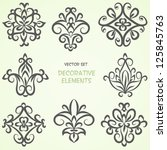 decorative floral elements. can ... | Shutterstock .eps vector #125845763
