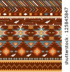 aztecs seamless pattern with... | Shutterstock .eps vector #125845847