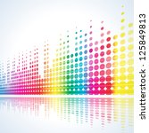 musical background with... | Shutterstock .eps vector #125849813