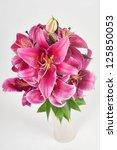 lily in vase | Shutterstock . vector #125850053