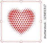 heart of hearts with decorative ... | Shutterstock .eps vector #125851517