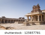 Temple in hampi, India - stock photo
