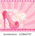 floral shoes poster   Shutterstock .eps vector #125862797