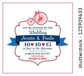 wedding invitation card ... | Shutterstock .eps vector #125909633