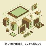 computer notebook tablet pc... | Shutterstock .eps vector #125930303