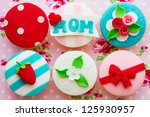 mother's day cupcakes | Shutterstock . vector #125930957