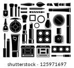 Set of icons cosmetics. vector