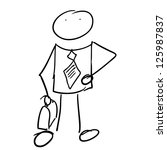 businessman doodle vector | Shutterstock .eps vector #125987837