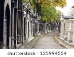 Pere Lachaise Cemetery Paris, France - stock photo