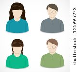 people icon | Shutterstock .eps vector #125995223
